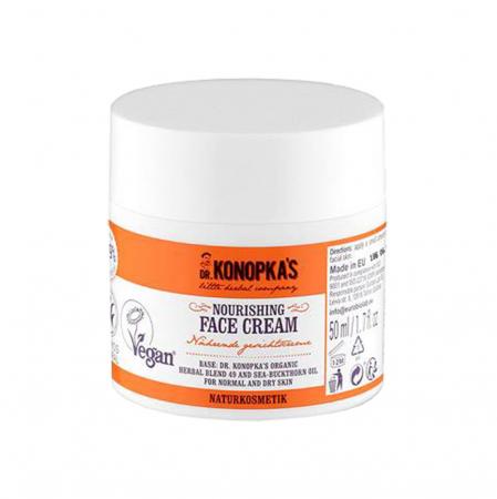 Crema de fata hranitoare cu extract de catina, DR. KONOPKA'S, Ingrediente 98.9% Naturale, 50 ml1