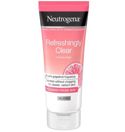 Crema pentru ten cu imperfectiuni cu Grapefruit Roz si Vitamina C, NEUTROGENA Refreshingly Clear Oil-Free, 50 ml