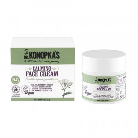 Crema de fata calmanta cu extract organic de coada-soricelului, DR. KONOPKA'S, Ingrediente 98.9% Naturale, 50 ml0