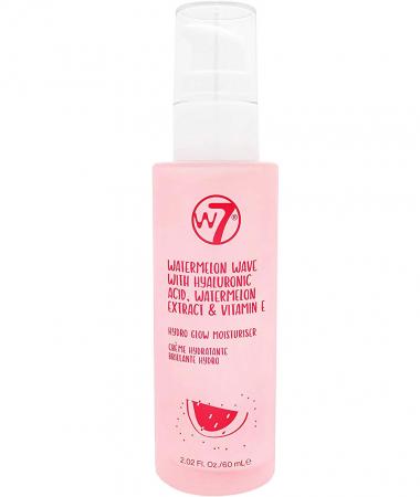 Crema de fata hidratanta cu Acid Hialuronic, Extract de Pepene si Vitamina E, W7 Hydro-Glow, 60 ml