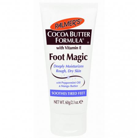 Crema calmanta pentru picioare obosite PALMER'S Cocoa Butter Formula, Foot Magic, Vitamina E, Ulei de menta si Unt de mango, 60 g