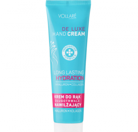 Crema de maini ultra-hidratanta VOLLARE cu acid hialuronic si colgen, 100 ml