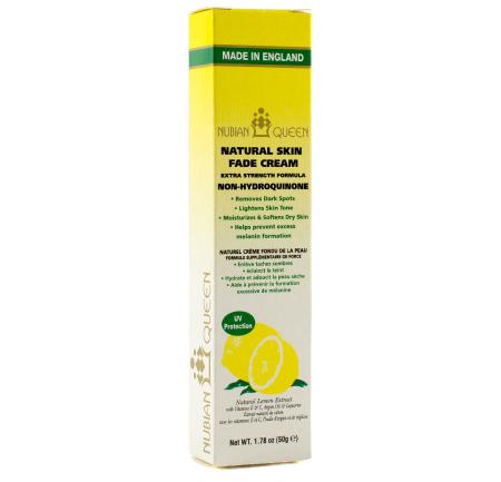 Crema de fata anti-pete NUBIAN QUEEN Natural Skin pentru ten tern si obosit, 50 g
