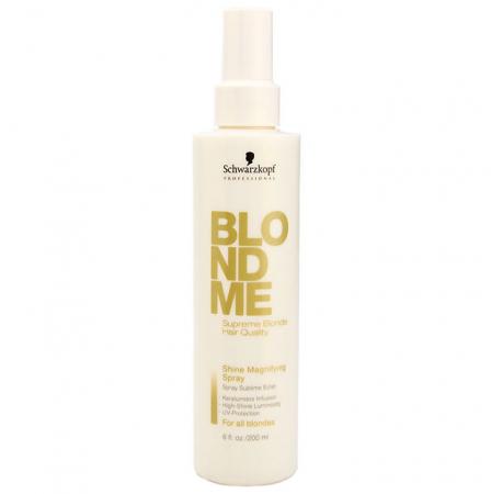 Spray leave-in pentru stralucirea parului blond Schwarzkopf Professional BlondMe Shine Magnifying Spray, 200 ml