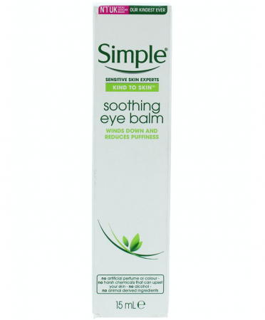 Balsam calmant pentru ochi umflati, pleoape lasate, obosite, Simple Kind To Skin Soothing Eye Balm, cu ceai verde, ginkgo biloba si Pro-vitamina B5, 15 ml0