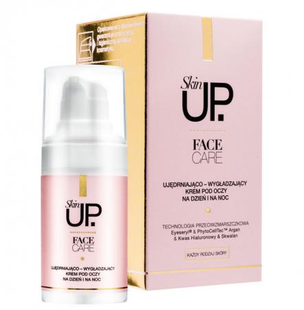 Crema anti-rid pentru ochi Skin UP Face Care cu acid hialuronic, tehnologie PhytoCellTec cu celule stem, Scualan si Argan, 15 ml