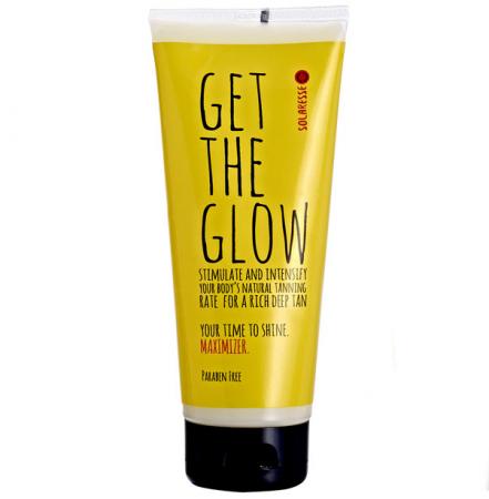 Lotiune intensificatoare SOLARESSE Get The Glow pentru accelerarea bronzului cu Vitamina E & Aloe Vera, 200 ml