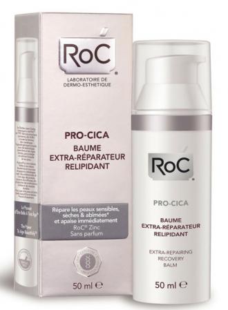 Balsam Reparator RoC pentru pielea sensibila, uscata si deteriorata, PRO-CICA Extra-Repairing Recovery Balm, 50 ml