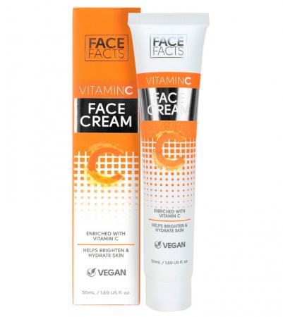 Crema de fata hidratanta cu Vitamina C, FACE FACTS, 50 ml