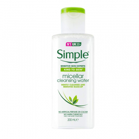 Apa micelara pentru tenul sensibil Simple Kind To Skin Micellar Cleansing Water, 200 ml