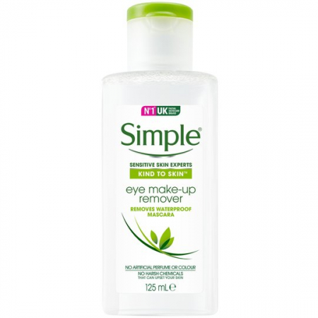 Demachiant pentru ten si ochi sensibili Simple Kind To Skin Eye Make-up Remover, 125 ml