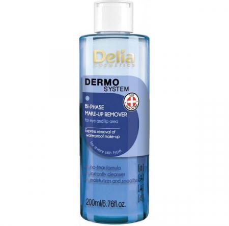 Demachiant bifazic Delia Cosmetics Dermo System Bi-Phase Make-Up Remover, 200 ml