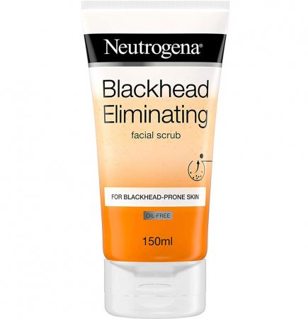 Scrub pentru ten gras cu acid salicilic NEUTROGENA Blackhead Eliminating, pentru eliminarea punctelor negre si minimizarea porilor, 150 ml