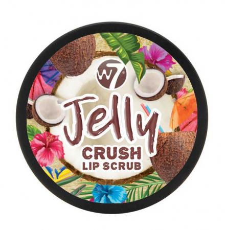 Exfoliant pentru buze W7 Jelly Crush Lip Scrub Pot, Crazy Coconut, 6 g