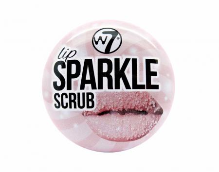 Exfoliant pentru buze cu sclipici, W7 Lip Sparkle Scrub, 10 g
