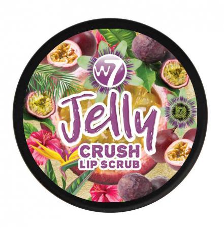 Exfoliant pentru buze W7 Jelly Crush Lip Scrub Pot, Passion Fruit Punch, 6 g