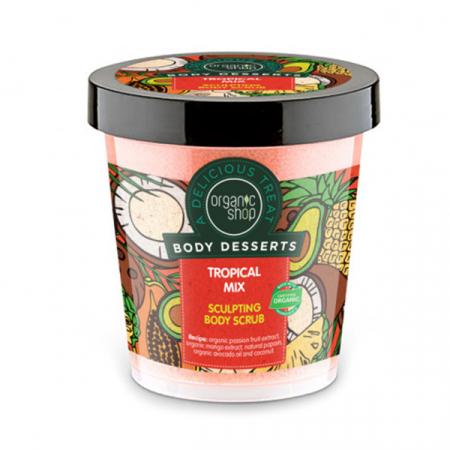 Scrub Anticelulitic Organic Shop Body Desserts -Tropical Mix, 450 ml