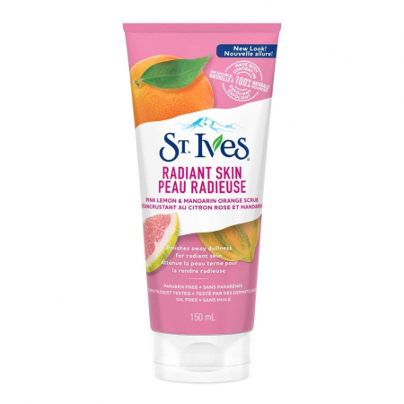 Exfoliant pentru ten luminos ST. IVES Even & Bright Pink Lemon Scrub, 150 ml