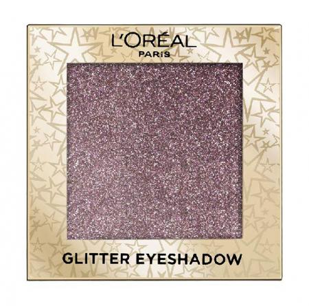 Fard de pleoape cu sclipici L'Oreal Paris Glitter Eyeshadow, 02 Purple Lights