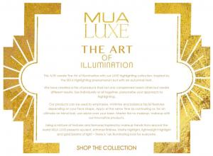 Foite iluminatoare Luxe Shimmer Sheet MUA Makeup Academy Professional - White Gold3