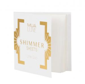 Foite iluminatoare Luxe Shimmer Sheet MUA Makeup Academy Professional - White Gold