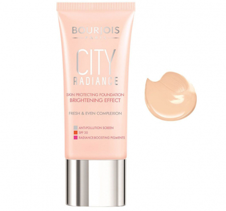 Fond de Ten BOURJOIS City Radiance Foundation 01 Rose Ivory, Brightening Effect, 30ml