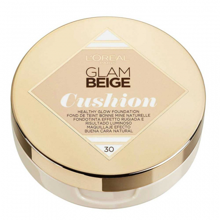 Fond de ten L'Oreal Paris Glam Beige Cushion, 30 Medium Light, 14.6 g