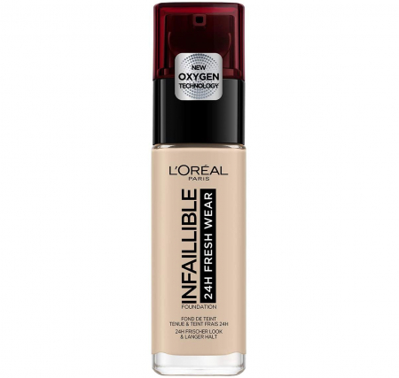Fond de ten L'Oreal Paris Infaillible 24H Fresh Wear, 15 Porcelain, 30 ml0