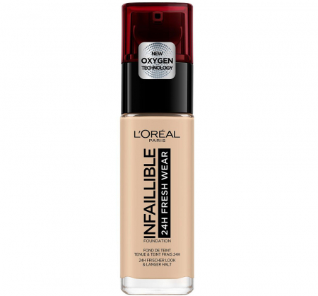 Fond de ten L'Oreal Paris Infaillible 24H Fresh Wear, 120 Vanilla, 30 ml