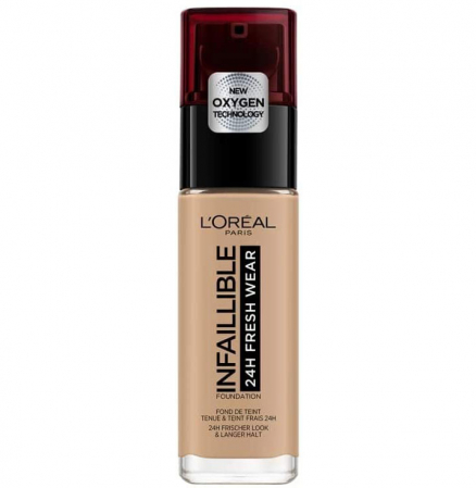 Fond de ten L'Oreal Paris Infaillible 24H Fresh Wear, 230 Radiant Honey, 30 ml