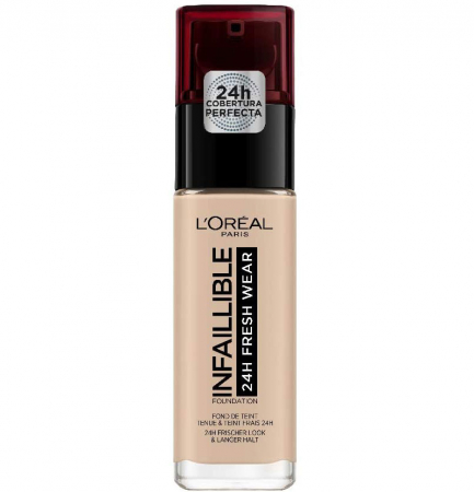 Fond de ten L'Oreal Paris Infaillible 24H Fresh Wear, 25 Rose Ivory, 30 ml