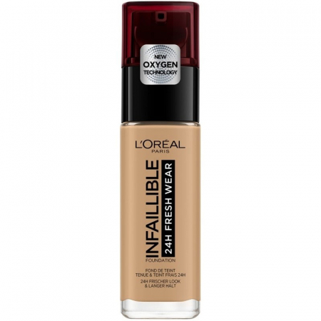 Fond de ten L'Oreal Paris Infaillible 24H Fresh Wear, 260 Golden Sun, 30 ml