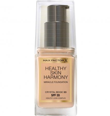 Fond de ten Max Factor Healthy Skin Harmony Miracle, 33 Crystal Beige, 30 ml0