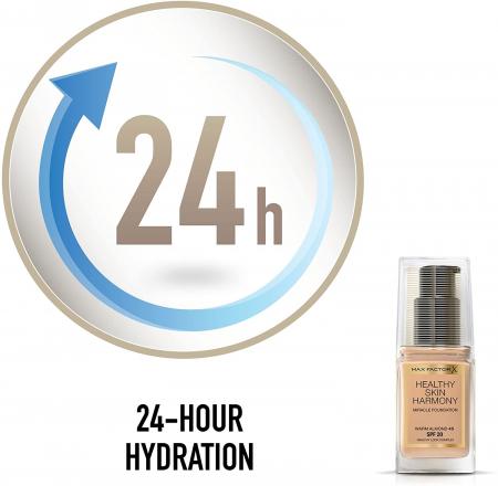 Fond de ten Max Factor Healthy Skin Harmony Miracle, 45 Warm Almond, 30 ml3