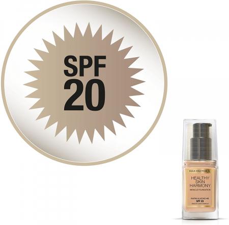 Fond de ten Max Factor Healthy Skin Harmony Miracle, 45 Warm Almond, 30 ml6