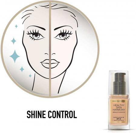 Fond de ten Max Factor Healthy Skin Harmony Miracle, 45 Warm Almond, 30 ml5