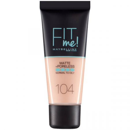 Fond de ten MAYBELLINE FIT ME Matte & Poreless 104 Soft Ivory, 30 ml