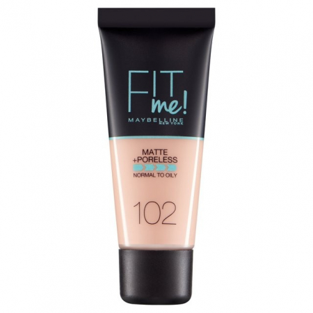 Fond de ten MAYBELLINE FIT ME Matte & Poreless 102 Ivory, 30 ml0