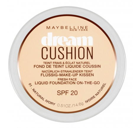 Fond de ten Maybelline Dream Cushion Liquid Foundation, 01 Natural Ivory, 14.6 g