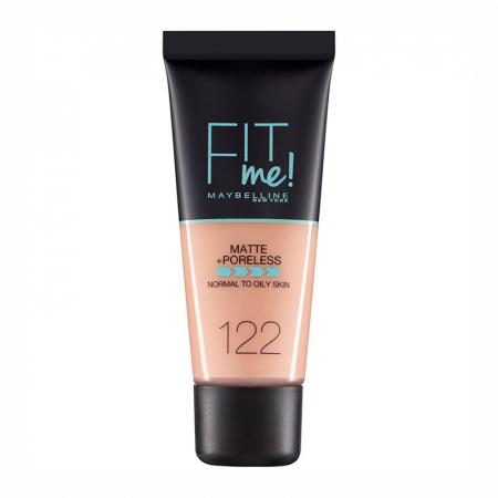 Fond de ten MAYBELLINE FIT ME Matte & Poreless, 122 Creamy Beige, 30 ml