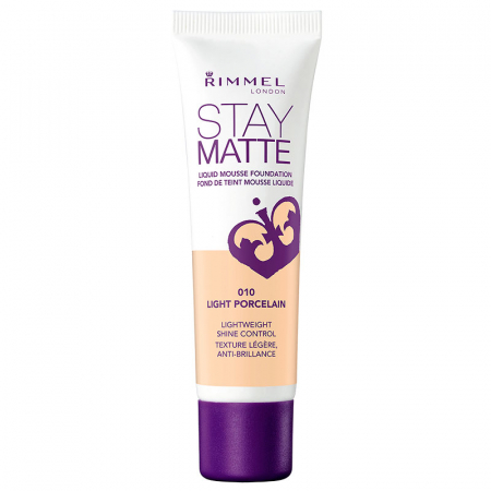 Fond De Ten Rimmel Stay Matte Liquid Mousse - 010 Light Porcelain, 30 ml