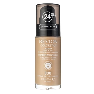 Fond De Ten Revlon Colorstay Oily Skin Cu Pompita - 330 Natural Tan, 30ml