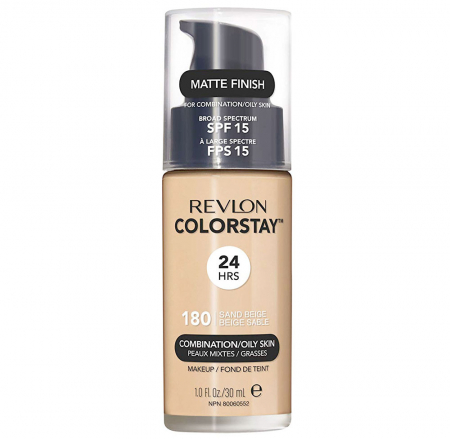Fond De Ten Revlon Colorstay Oily Skin MATTE FINISH, 24H, SPF 15 - 180 Sand Beige, 30ml