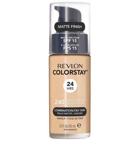 Fond De Ten Revlon Colorstay Oily Skin MATTE FINISH, 24H, SPF 15 - 240 Medium Beige, 30ml0