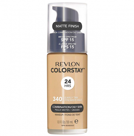 Fond De Ten Revlon Colorstay Oily Skin MATTE FINISH, 24H, SPF 15 - 340 Early Tan, 30ml