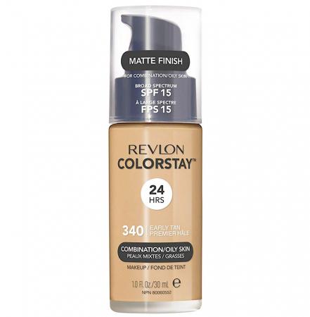 Fond De Ten Revlon Colorstay Oily Skin MATTE FINISH, 24H, SPF 15 - 340 Early Tan, 30ml0