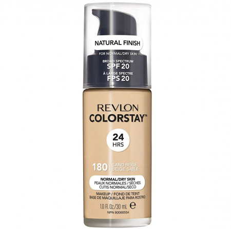 Fond De Ten Revlon Colorstay Normal / Dry Skin NATURAL FINISH, 24H, SPF 20 - 180 Sand Beige, 30ml0