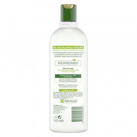 Crema de Baie cu Ulei Natural de Musetel pentru piele sensibila, Simple Moisturising Bath Cream, 400 ml1