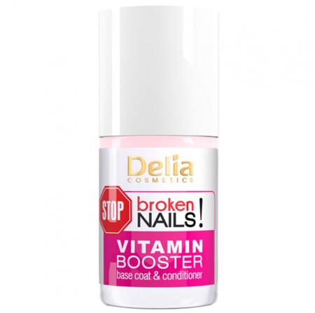 Baza si balsam cu Vitamine pentru Unghii deteriorate, Delia Cosmetics Stop Broken Nails, 11 ml1