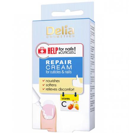 Tratament crema pentru cuticule Delia Cosmetics Repair Cream Help for Nails & Cuticles, Vitamina C, 14 ml0